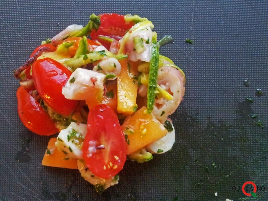 Insalata di polpo con melone, zucchine e pomodorini_Paola Uberti_IMG1