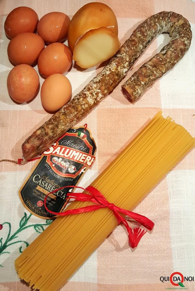 frittata di spaghetti con salsiccia (1)