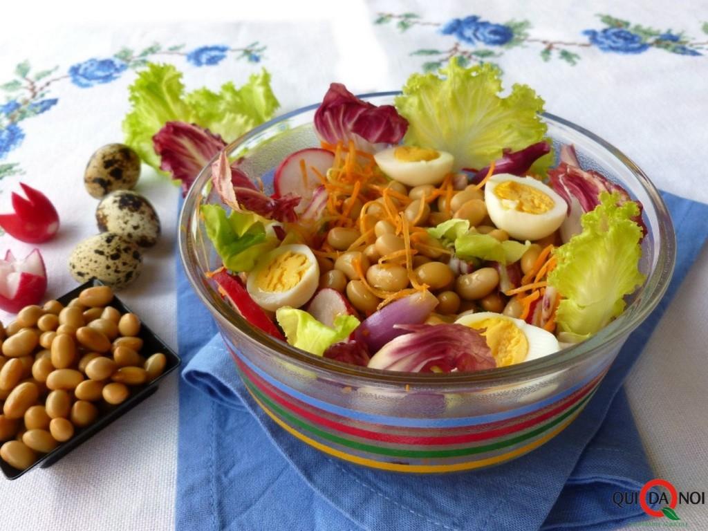 Soia con lattuga ortaggi e uova - Grassi