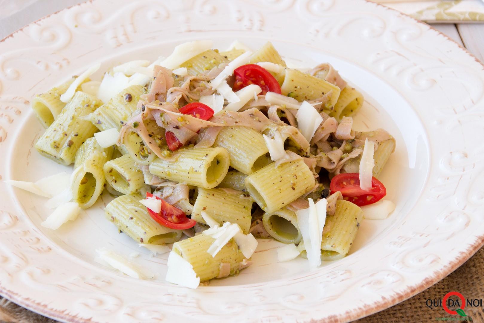 rigatoni pistacchi mortadella casciotta (2)