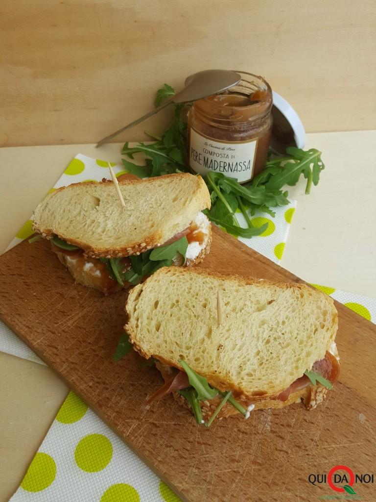 sandwich composta pere