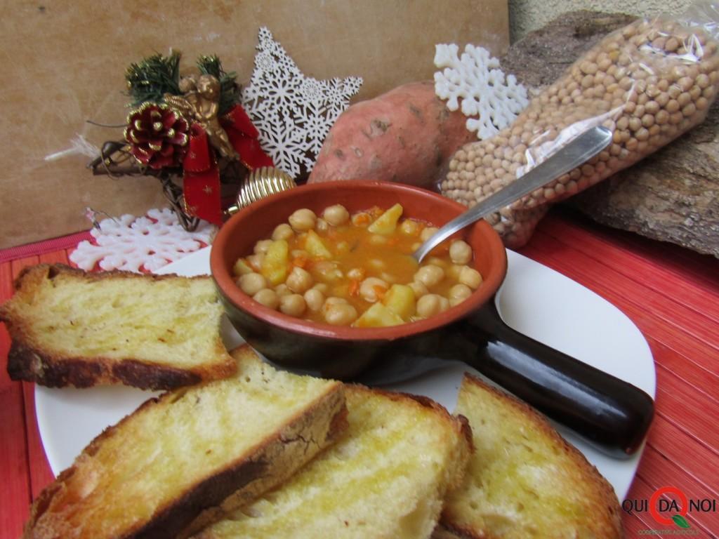 zuppa natalizia di ceci e patate