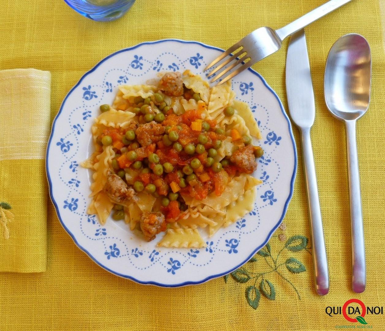 Ricciutelle piselli e salsiccia fondo- Grassi (2)