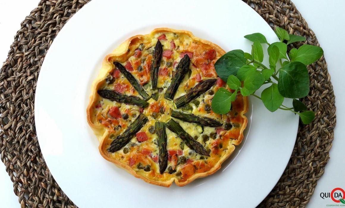 torta salata con verdure di primavera ed erbe aromatiche- Laura Ghezzi