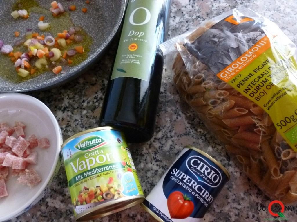 Penne vegetariane step - Grassi (1)