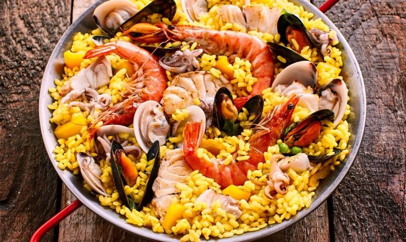 Paella di frutti di mare allo zafferano di Navelli