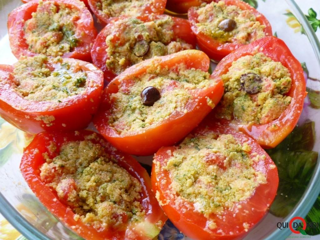 pomodori ripieni al pesto step (3) -Grassi