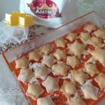 Stelle di zucca ripiene di crema di fagioli