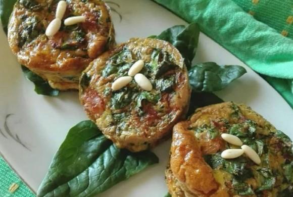 Muffin con spinaci