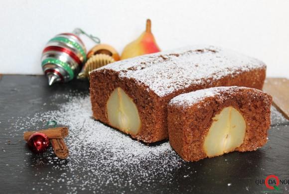 Plumcake natalizio con pere e cioccolato