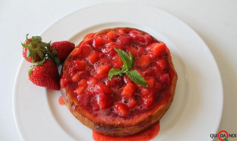 Gâteau di ricotta con salsa di fragole by Erica Zampieri