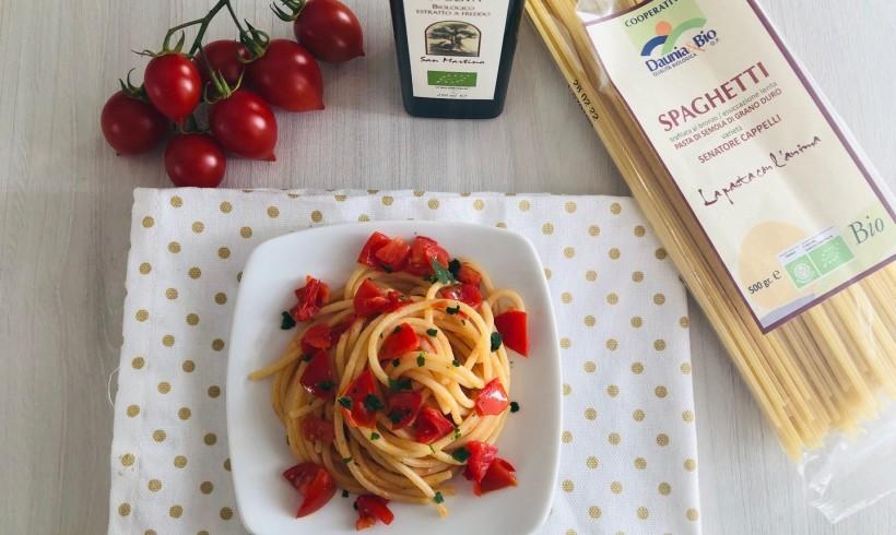 Spaghetti al pomodoro con colatura di alici