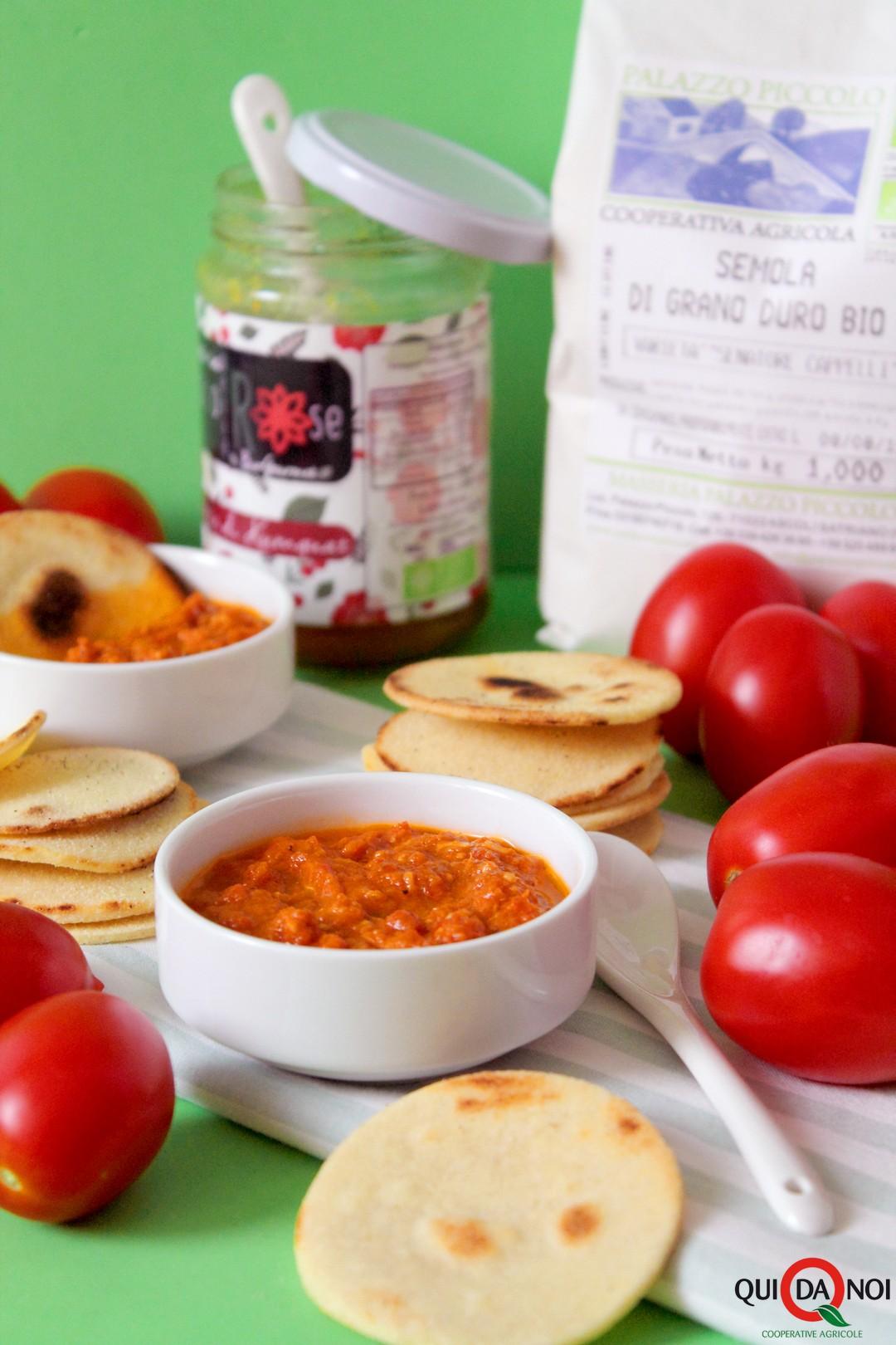 Cialde al burro con salsa di pomodorini e mandarini kumquat_paola (1)