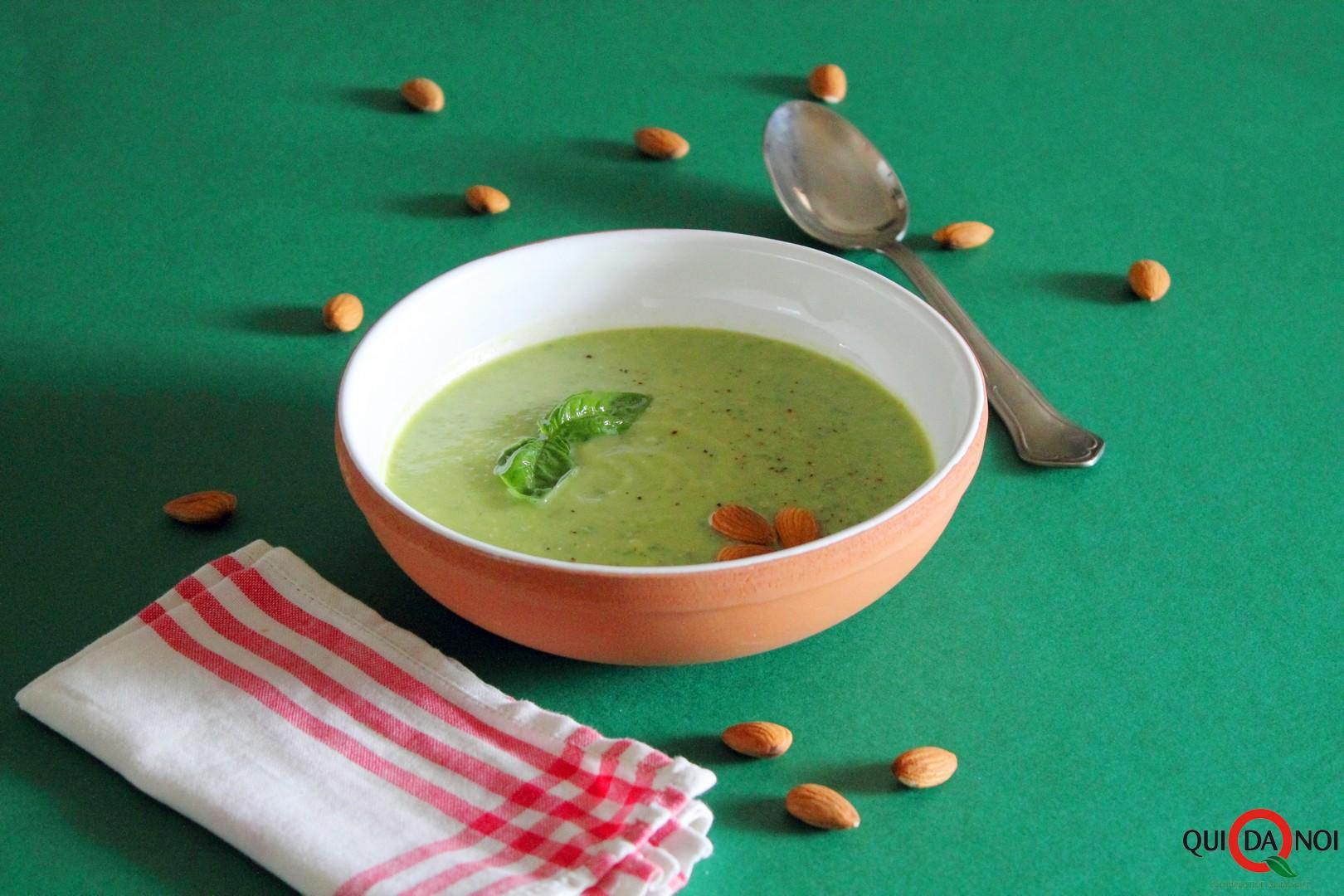 Crema fredda estiva di zucchine e mandorle_paola