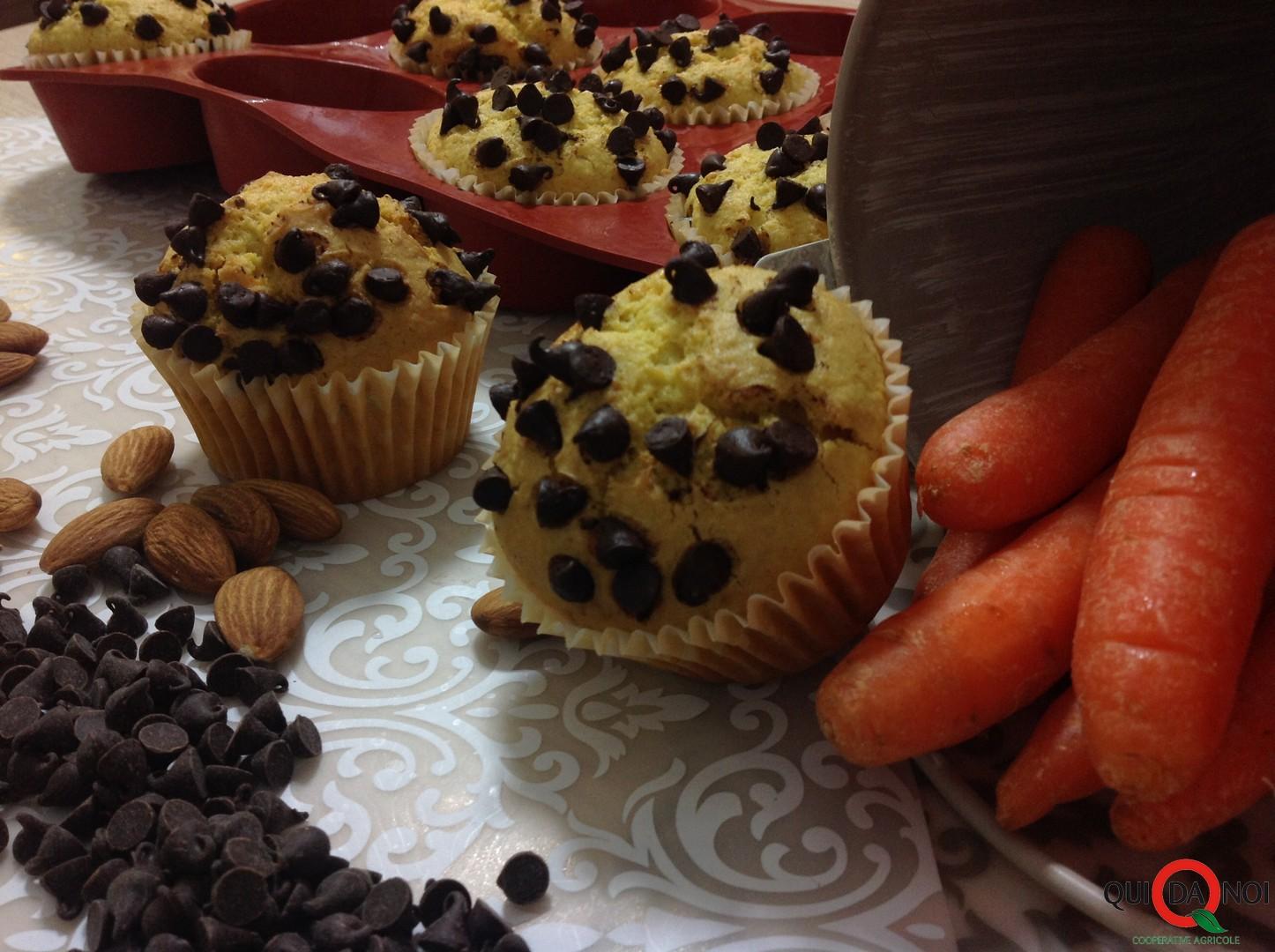 muffin alle carote con gocce di cioccolato_fernanda