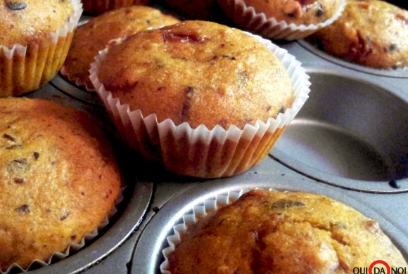 Mini muffin di zucca con cioccolato e croccante di nocciole allo zucchero di canna