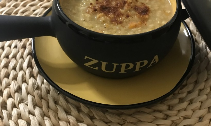 Zuppa di topinambur e lenticchie