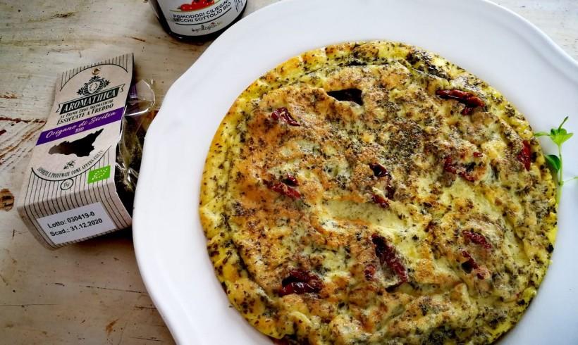 Omelette all'origano e pomodorini secchi