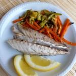 Sgombro e verdure al cartoccio