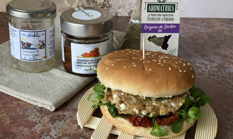 Fishburger di ventresca di tonno rosso di Sicilia