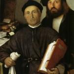 Ritratto del medico bergamasco, Giovanni Agostino della Torre, con il figlio Niccolò (di Lorenzo Lotto)