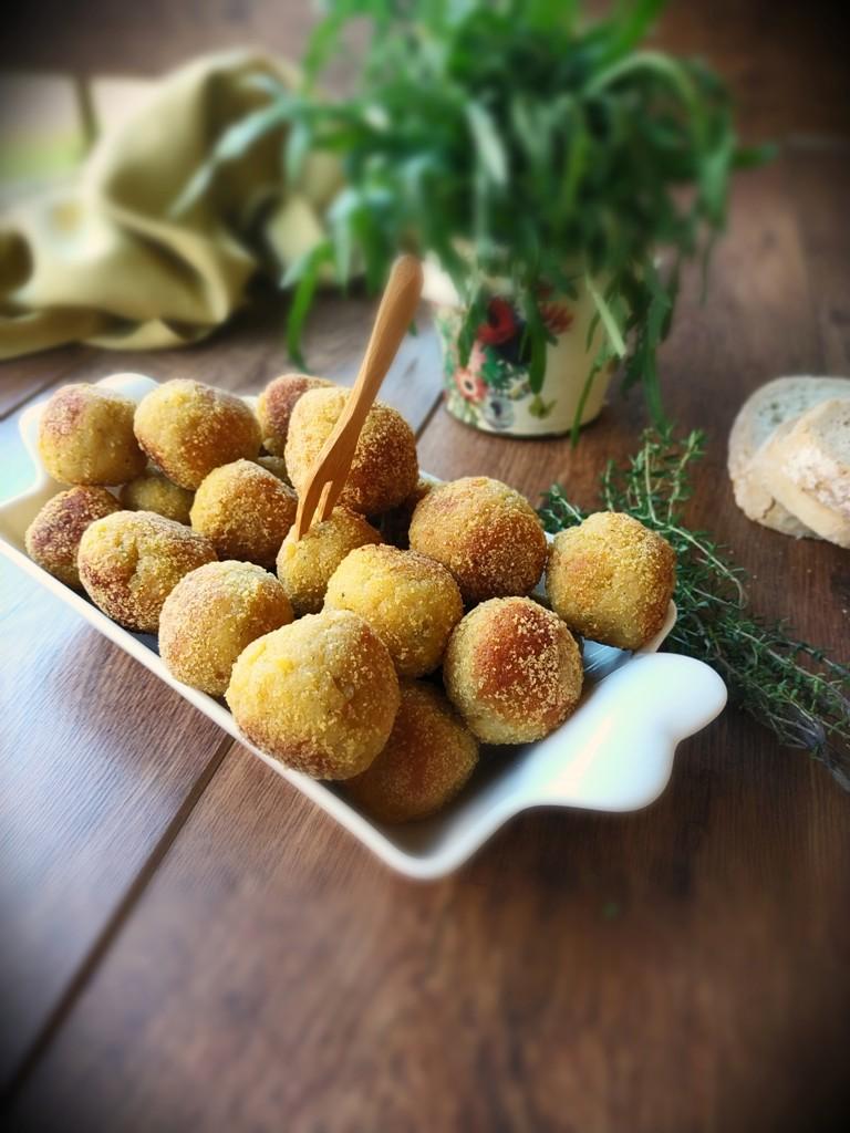polpette di pane patate e prosciutto -Grassi