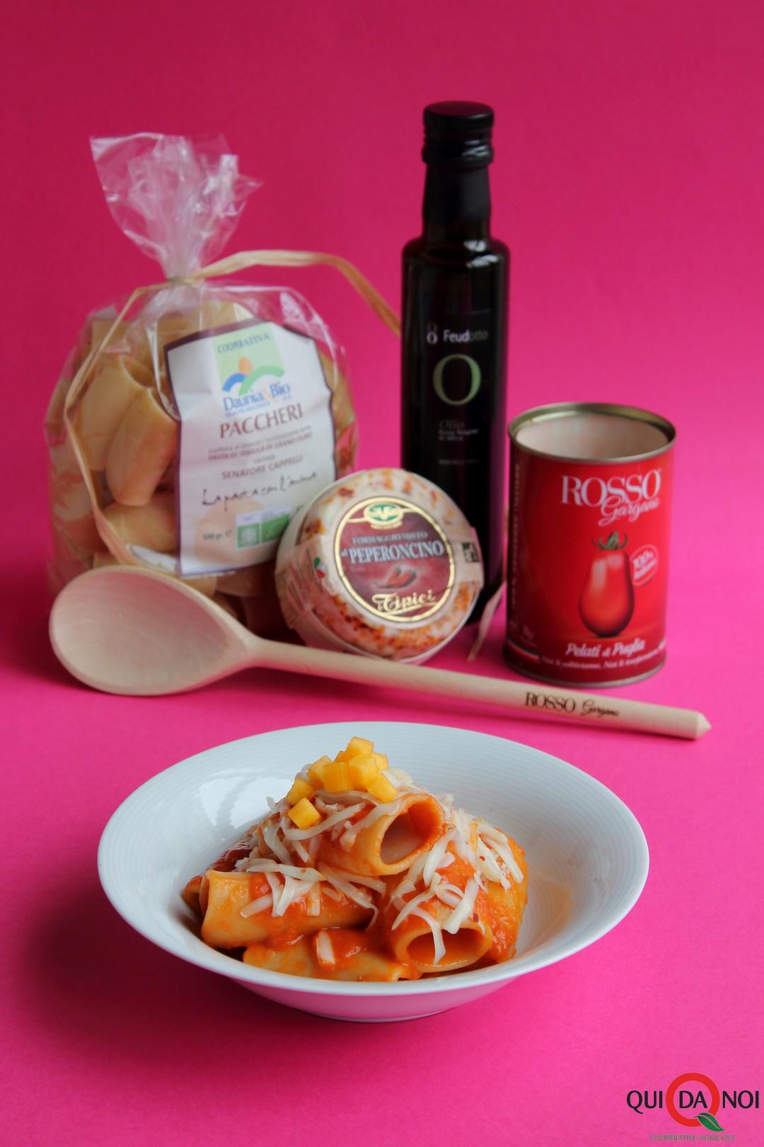 paccheri pomodoro melon formaggi piccante_paola uberti
