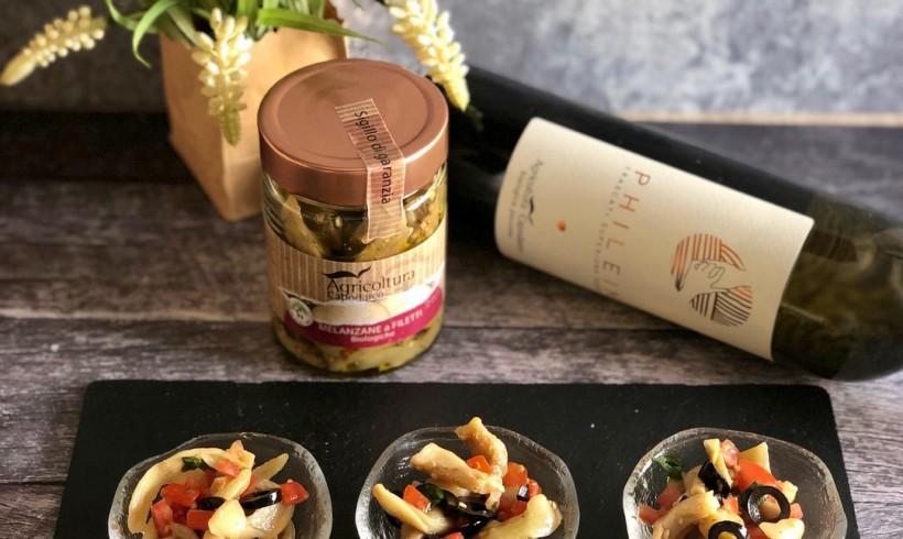 Filetti di melanzane alla mediterranea