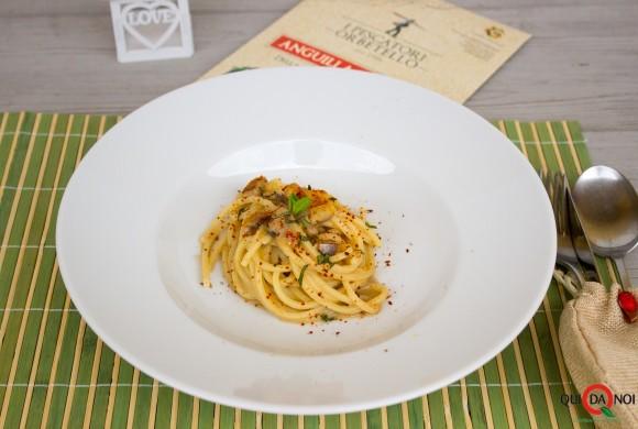 Spaghetti all'anguilla sfumata di Orbetello