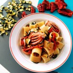 Calamarata con totani e zucchine a rondelle disidratate
