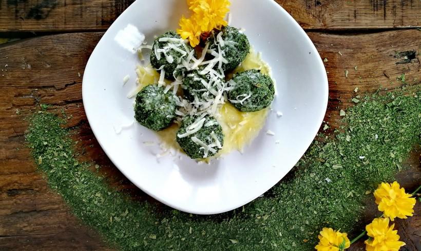 Gnocchi di spinaci Farris al burro e parmigiano