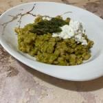 Spaztle di farro con burrata e punte di asparagi