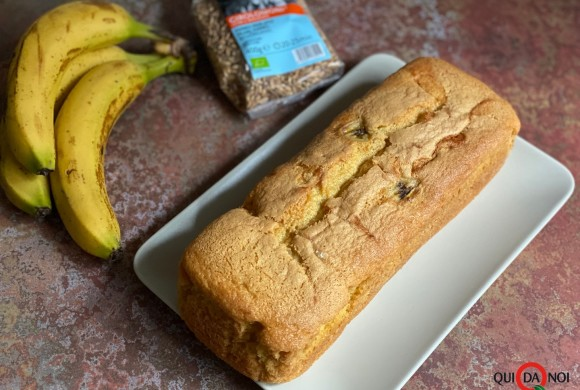 Plumcake di farro e banane
