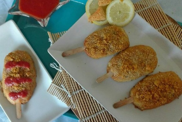Gelati di pesce al forno