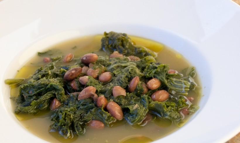 Zuppa di torzelle e fagioli Ajavdè