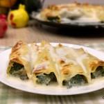 Cannelloni con spinaci e ricotta