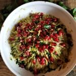 Insalata di melanzane, aglio e melagrana (di Yotam Ottolenghi)