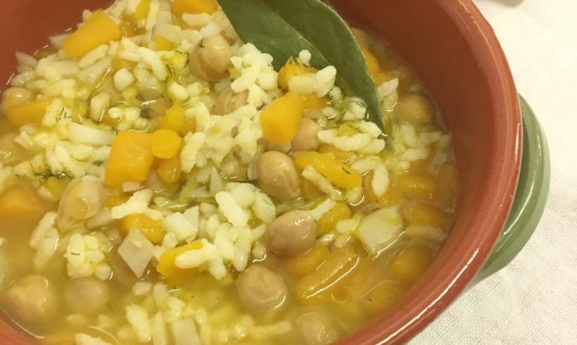 Zuppa con riso, ceci e olio agli agrumi by Micaela Ferri