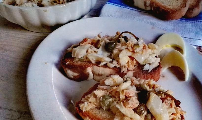 Bruschette di stoccafisso in insalata