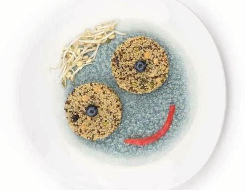 """""""Così mi piace"""". Volti felici di quinoa ai peperoni e calamari"""