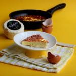 Frittata con formaggio al tartufo