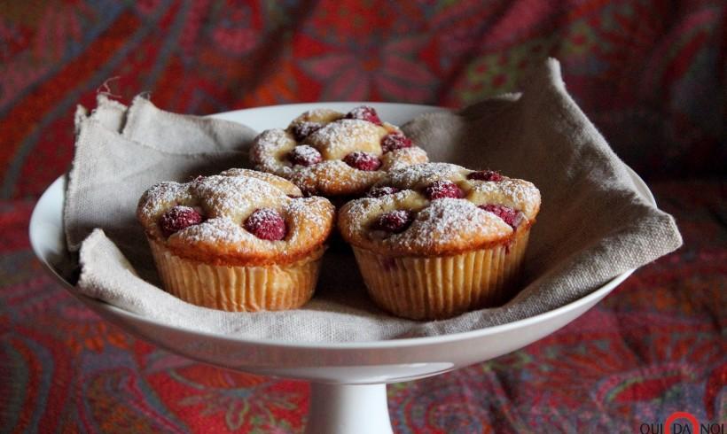 Muffin ai lamponi con yogurt