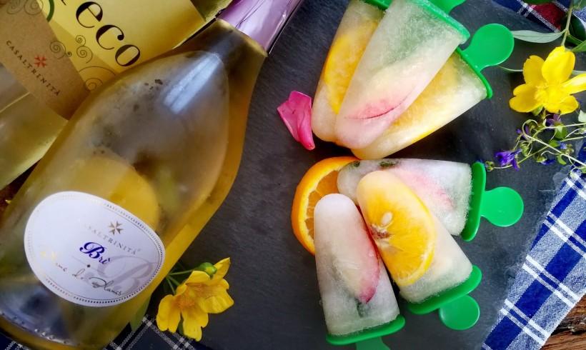 Sangria bianca poptail, l'aperitivo in ghiacciolo
