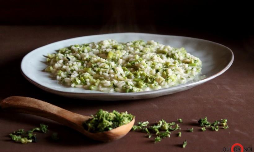 Risotto con broccolo disidratato