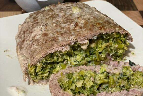 Rotolo di carne farcito con formaggio e broccolo disidratato Farris