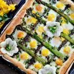Torta di asparagi e uova