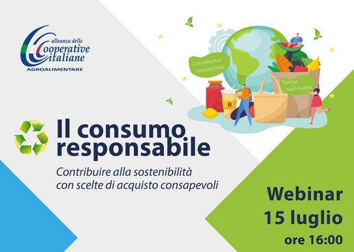 """Webinar """"Il consumo responsabile"""": Giovedì 15 Luglio ore 16"""