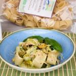 Calamarata con zucchine e fonduta di parmigiano